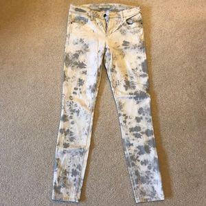 BNWOT Joe's Jeans Tie-Dye Denim White/Grey